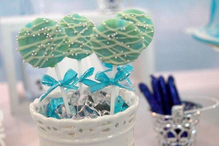 Disney's Frozen themed birthday party via Kara's Party Ideas! full of...