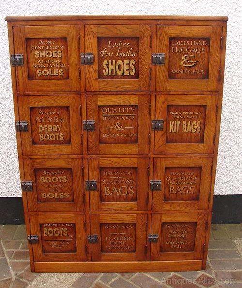 Superior Oak Sports Locker 1950s