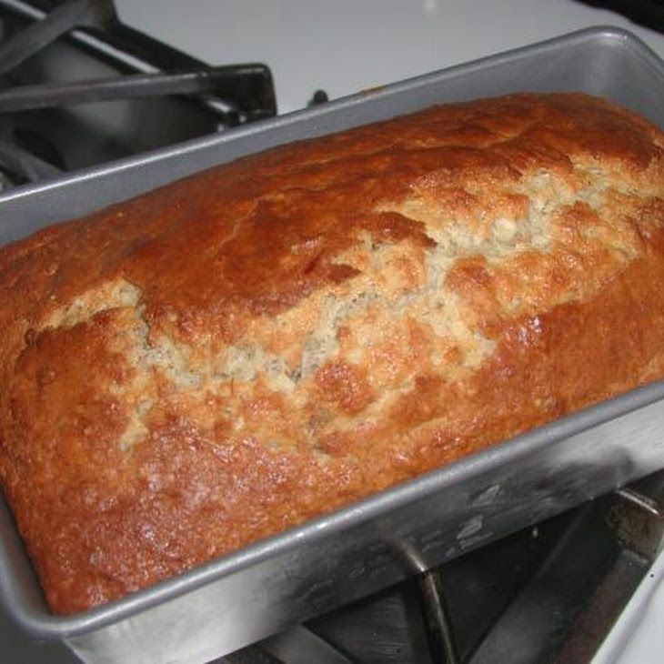 The Easiest Bisquick Banana (Nut ) Bread  .....this was easy and tasty.  I put 3 very ripe bananas that had turned black.  My loaf looked exactly like this picture, beautiful.  Crusty on top and moist inside.  Very good.