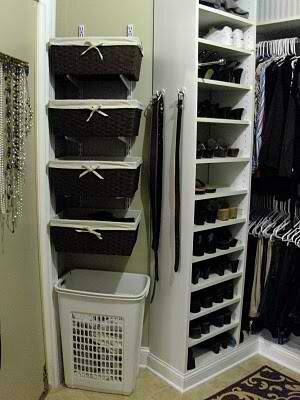 Love the basket idea for tighter closet space