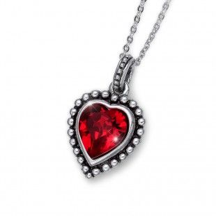 Oliver Weber Women lovely red pendant necklace antique heart with Swarovski Crystals