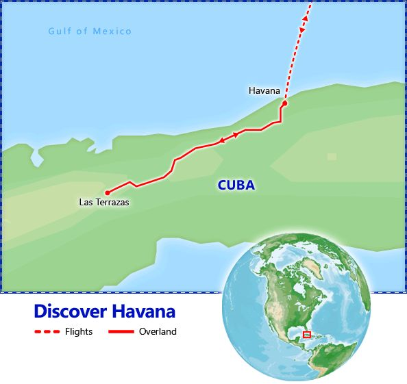 Discover Havana tour itinerary.  Discover Havana - Discount Vacation Packages by Friendly Planet