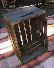 Nine Red: DIY Antique Crate End Tables