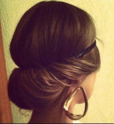 simple hair tuck in