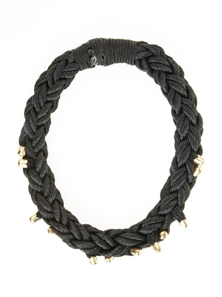 Plaited necklace with brass
