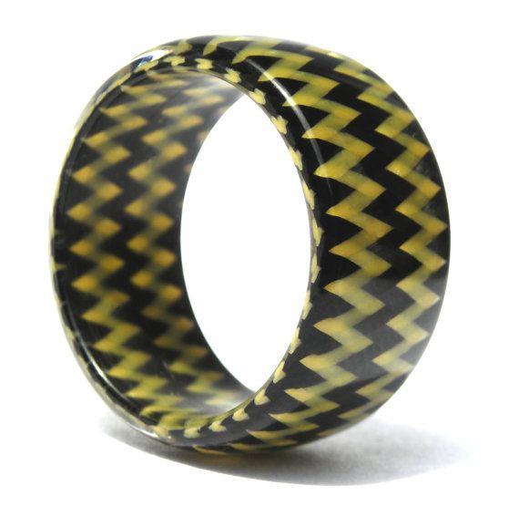Kevlar  & Carbon Fiber Ring by Rosler on Etsy, $120.00