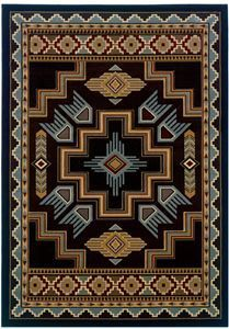 Delectably-Yours.com CEM Talon Blue Southwestern Rug United Weavers Designer Contours Rugs in 4 sizes and a hall runner  #DelectablyYours Southwestern Rugs, Bedding and Decor
