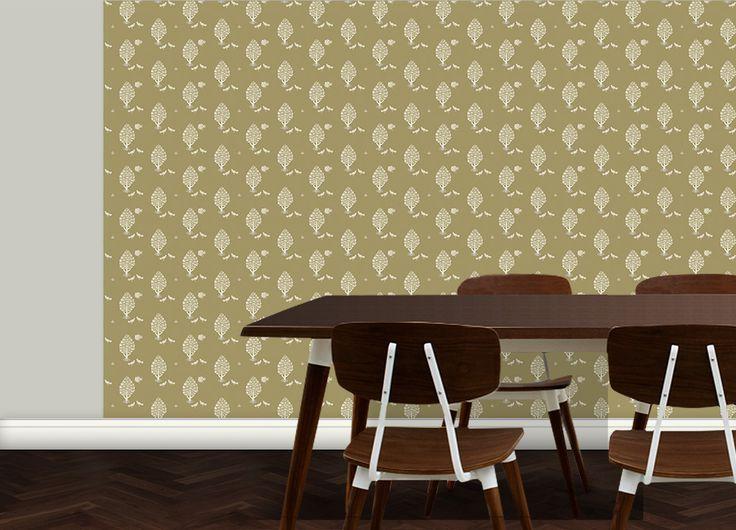 Tapeten Für Schöner Wohnen, Tier TapetenDiese Tapete Ist Angepasst An  Wandfarbe RAL 1020 Die Länge Einer Tapeten Rolle Wird Ihrer Wandhöhe  Entsprechen.