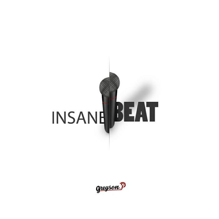 """Logo créer pour un groupe de beatboxer """"InsaneBeat"""" Blanc"""