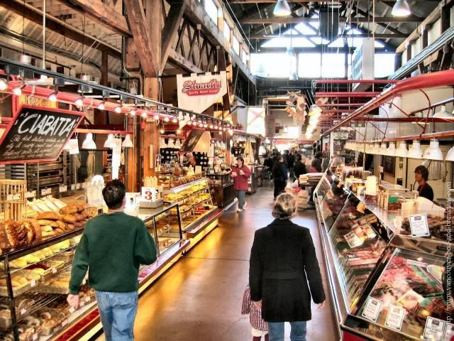 Granville Island Market, Vancouver, Canada - Like Pike Place Market, but better, being Canadian.