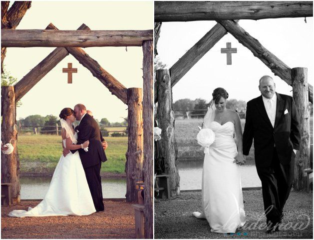 Country Wedding arch- this is so cool! not that i need to be thinking about weddings…