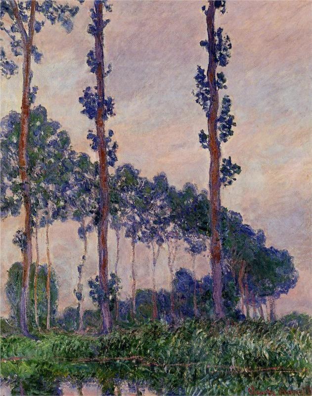 Three Trees in Grey Weather, 1891, Claude Monet