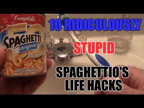 10 Ridiculously Redneck Crazy SpaghettiO's LIFE HACKS - YouTube