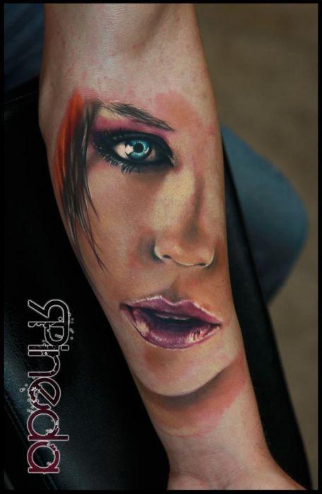 Blue Eyes Arm Tattoo Best Tattoos Ever - Tattoo by Rich Pineda - 03