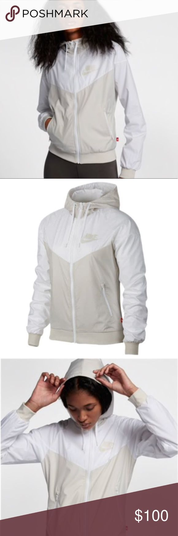"""•Nike Windrunner OG• NWT Nike Windrunner OG zip up hoodie in """"light bone"""". Women's size small. Never worn, tag is detached.    ❌ NO TRADES 📬 Same day / Next day shipping 🚫 Smoke & Pet free home 🎁 Bundle discount 10% off 2+ items Nike Jackets & Coats"""