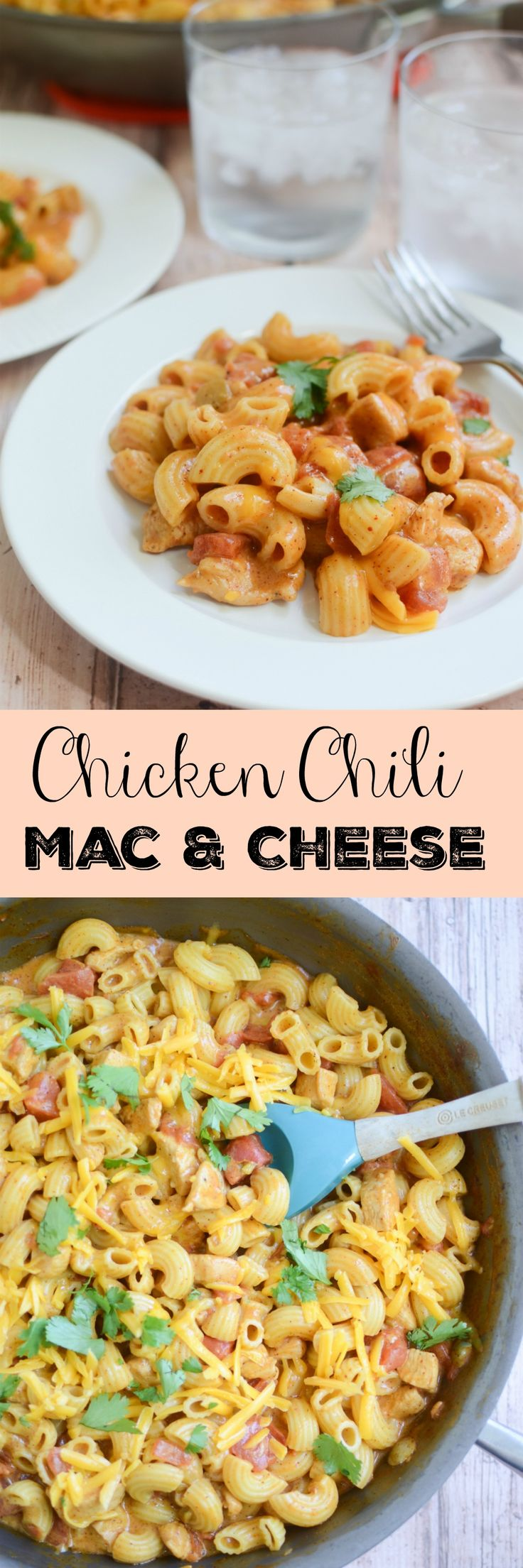Chicken Chili Mac and Cheese - the whole family will love this macaroni and cheese recipe with just a the right amount of spice!