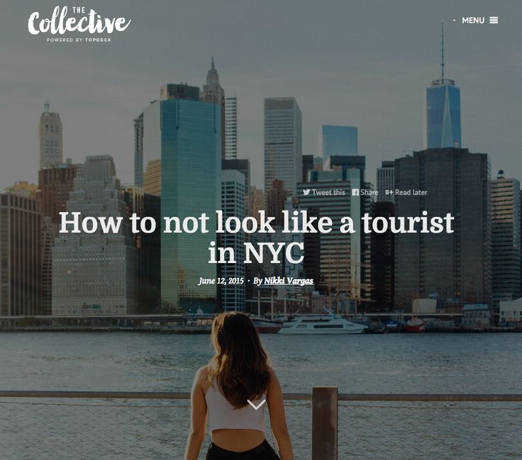 How to not look like a tourist in NYC
