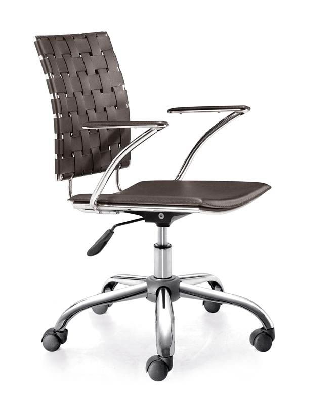 lowest price on zuo modern criss cross espresso office chair shop today