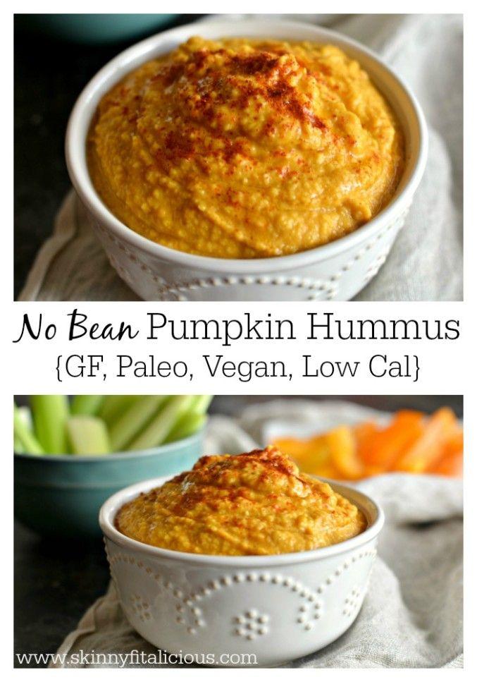No Bean Pumpkin Hummus {GF, Paleo, Vegan, Low Cal}