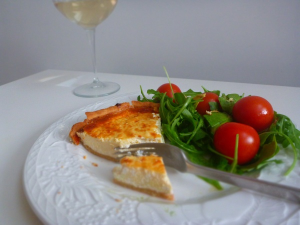 Goat's Cheese Tart - the perfect filling for my short crust pastry recipe. A delicious springtime meal.