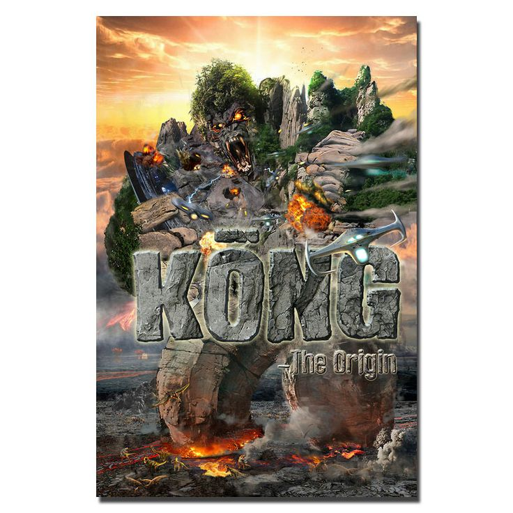 POPIGIST-Kong Skull Island 2017 New Movie  Canvas Or Silk Poster 30x20 20 inch King Kong Picture Decoration(click to see more)-3 #Affiliate