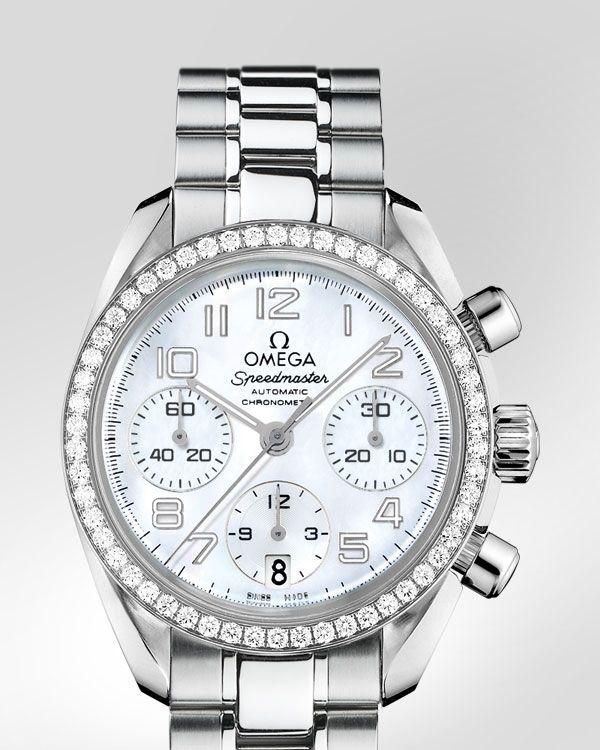 Omega Speedmaster Lady's watch.  Steel on Steel. http://www.thesterlingsilver.com/product/marc-jacobs-mbm3242-36mm-silver-steel-bracelet-case-womens-watch/