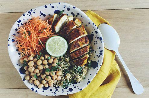 Salade de boulgour au poulet mariné au citron et pois chiches - Darty & Vous