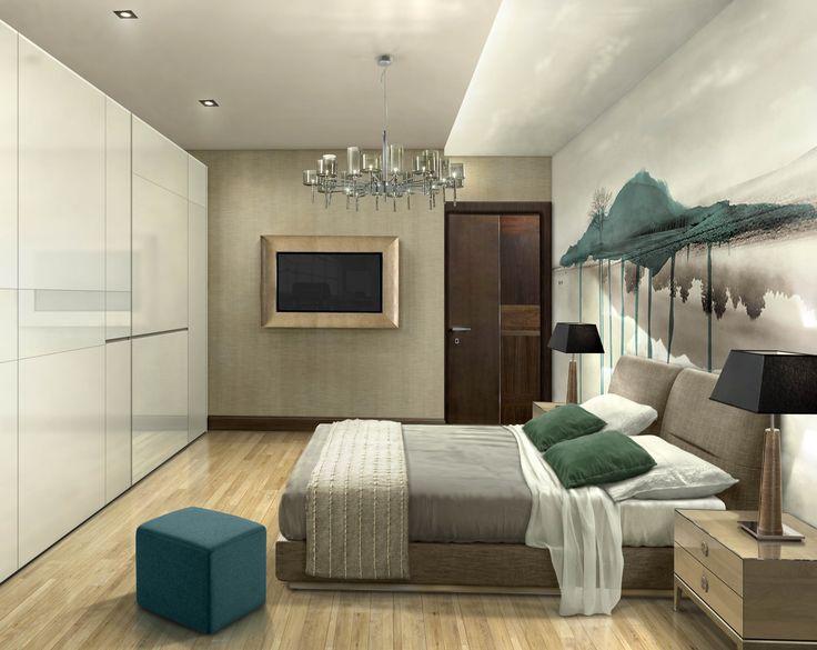 Guest bedroom - perspective view - interior design