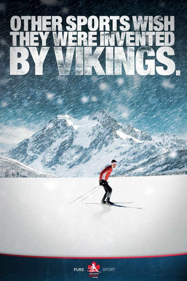 Vikings were badass... thus, nordic skiing has its fair share of bad assedness, without the knee injuries!