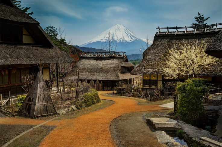 Image result for Fuji Japan village
