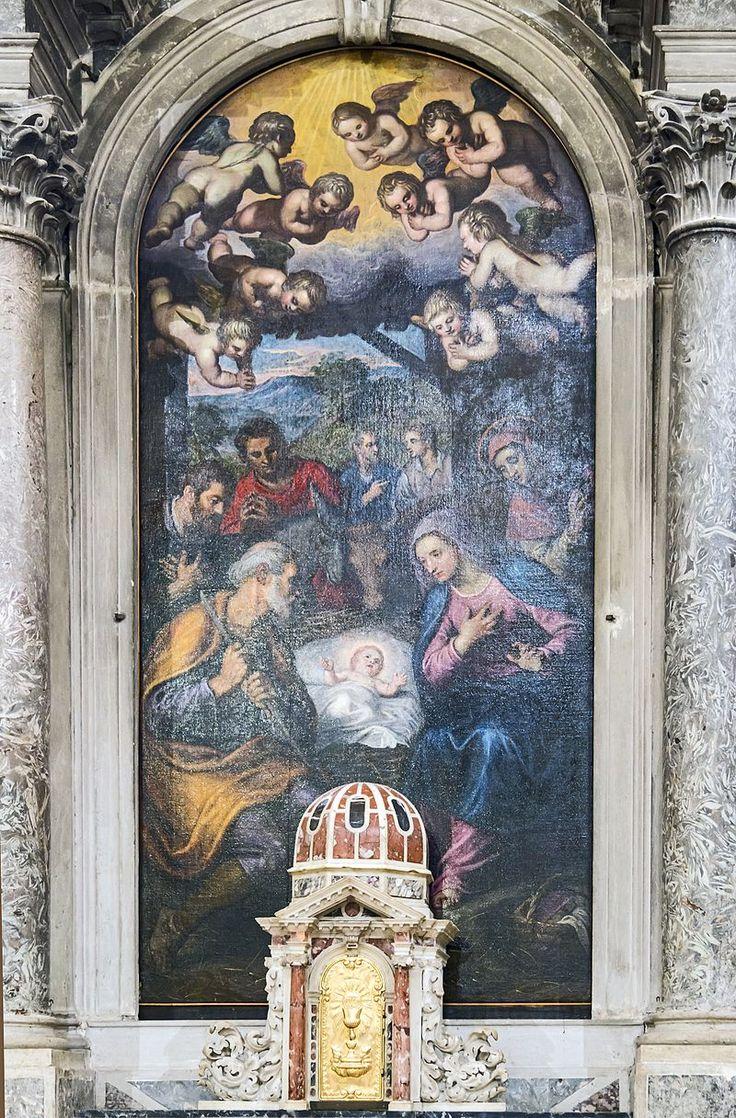 Madonna dell'Orto (Venice) - Chapel Morosini - Nativity and Saint Dominic by Tintoretto 1625 - Chiesa della Madonna dell'Orto - Retable La Natività e San Domenico Domenico Tintoretto