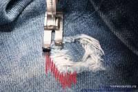 Как отремонтировать порваные джинсы