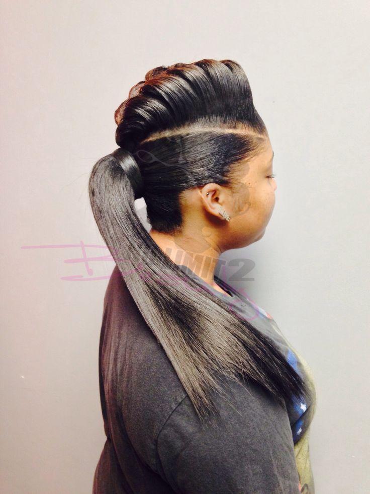 Braid hump ponytail #braid #ponytail #frenchbraid #