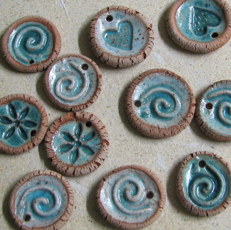Ceramic Pendants or Ornaments or Essential Oil Diffusers - set of three. €7.80, via Etsy.