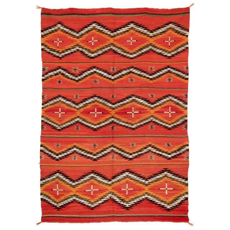 Southwestern Native American Transitional Blanket, Navajo, 19th Century | From a unique collection of antique and modern native american objects at https://www.1stdibs.com/furniture/folk-art/native-american-objects/