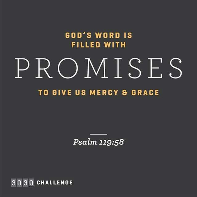 God's word is filled with promises to give us mercy and grace.