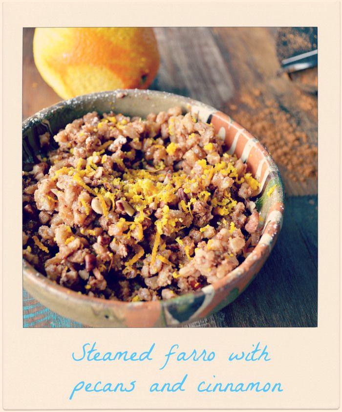 steamed farro with pecans and cinnamon  #cookfarro #healthytreats #farrowithpecansandcinnamon