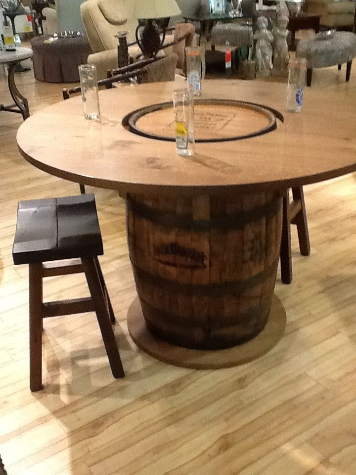 Whiskey Barrel Coffee Table Barrel Table Diy Barrel