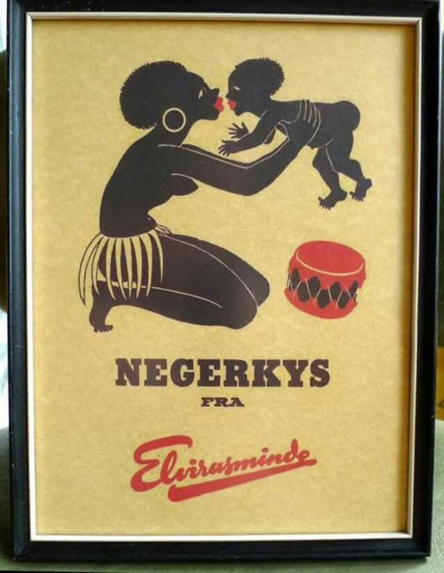 Negerkys = Danish for negro's kiss.  A type of dessert. First a small, circular waffel then a filling of, originally, sugared whipped cream, later sugared egg whites, coated with dark chocolate.