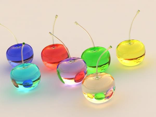 *** Glass cherries - i LIKE it