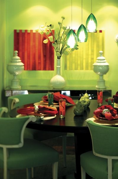 Creative Colour Green Rooms Paint Schemes Color Combos Red