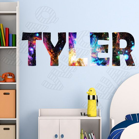 Custom Name Wall Decal Galaxy Wall Art Personalized Name by VWAQ