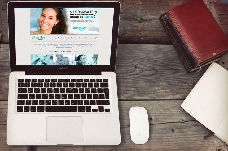 Diseño de Página Web All Smiles implementada en Wordpress versión ingles y español
