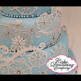 Frozen Crystal Large Cake Lace Mat By Claire Bowman