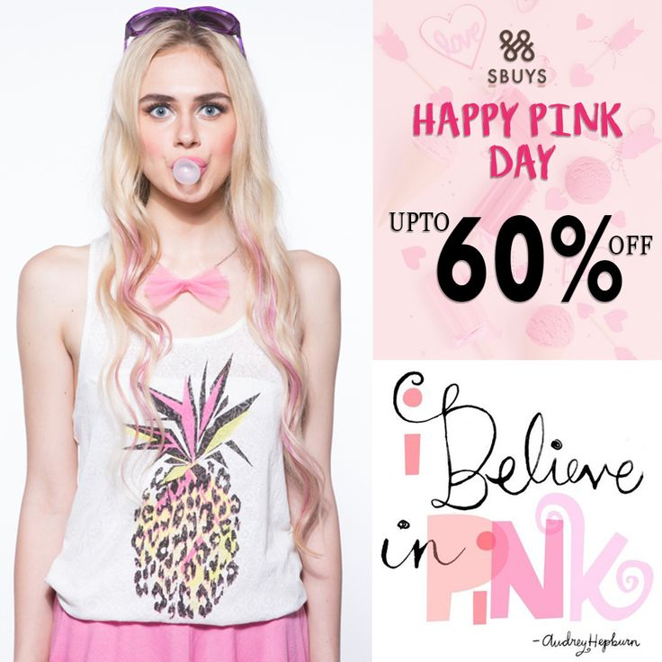 Celebrate Pink Day with our sunshine worthy outfits and get UPTO 60% OFF @ http://www.sbuys.in #sbuys #womenswear #stylediva #latesttrends #fashionistas #newcollection #elegant #urbanstylewear #springseason #huesandtints #newarrivals #summers #pinkday