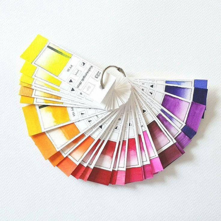 Eine tolle Farbreferenz sind solche Farbstreifen mit SCHMINCKE HORADAM Aquarellfarben - drüben auf meinem persönlichen Malerei-Account @inafineart . . . #Aquarell #Farbreferenz #Schmincke #Horadam #Aquarellfatben #fb #colorswatches