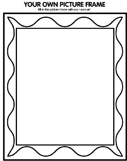 your own picture frame coloring page printable coloring pagesfree