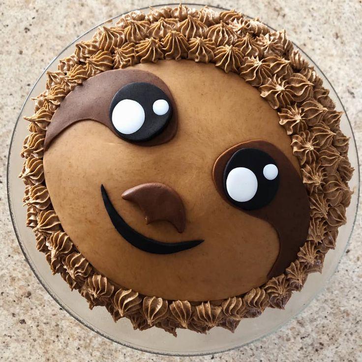 Karens adorable sloth cake in 2020 sloth cakes cake