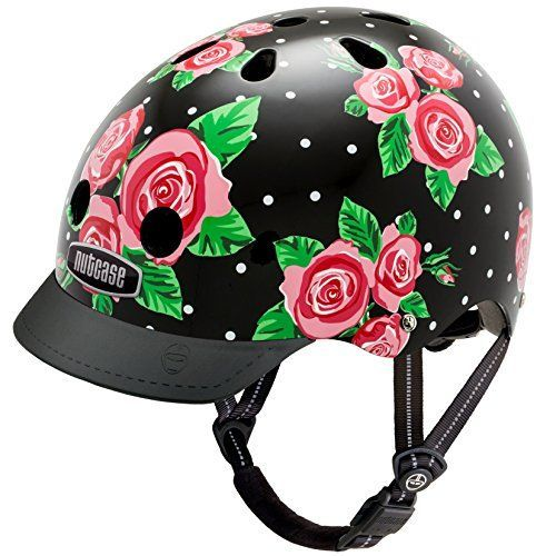 BMX Helmets - Nutcase  Street Bike Helmet Fits Your Head Suits Your Soul  Rosey Dots Medium >>> You can get more details by clicking on the image.