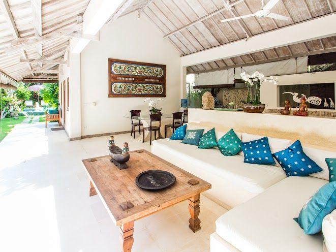 Villa Gembira | 2 bedrooms | Seminyak, Bali #bali #villa #interior #livingroom